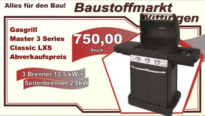 Campingaz Master 3 Series Classic LXS  Abverkaufspreis