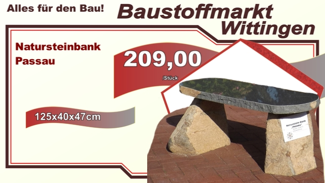 Natursteinbank Passau